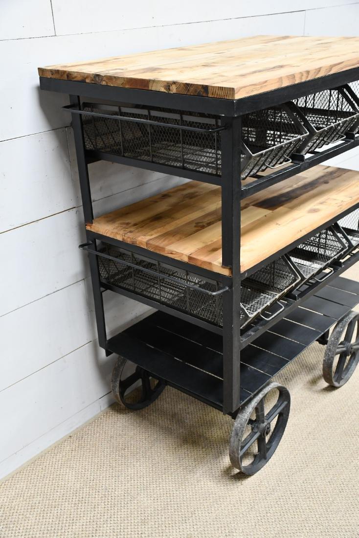 """Industrial Work Cart w/ Baskets 56""""H,   48""""  x   30"""" - 2"""