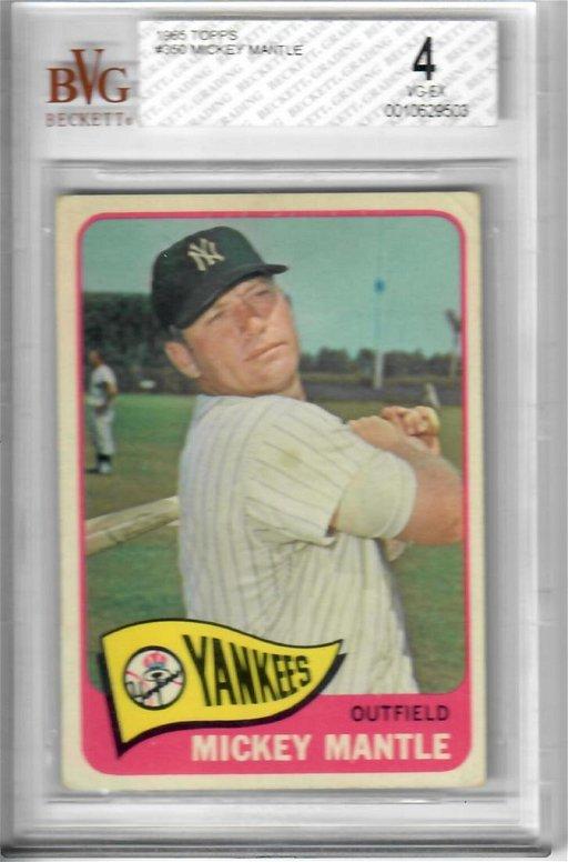 1965 Topps Mickey Mantle Baseball Card