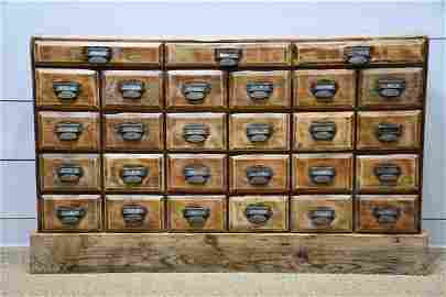"""General Store Apothecary 41 1/2""""H,   69""""L(base),"""