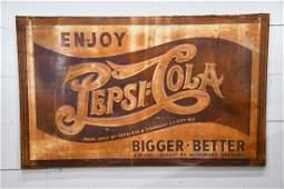 """Pepsi - Cola Sign w/ Great Patina   -     metal 36""""  x"""