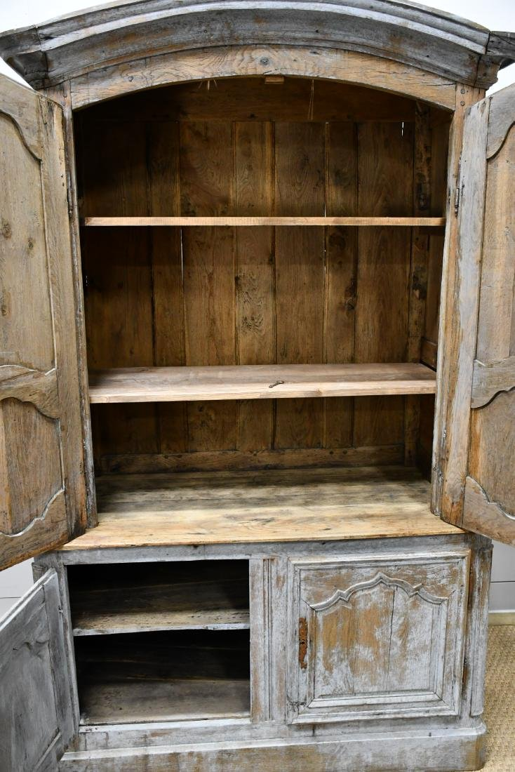 """Early 19th C. French Painted 2 Piece Cupboard 84 3/4""""H, - 4"""