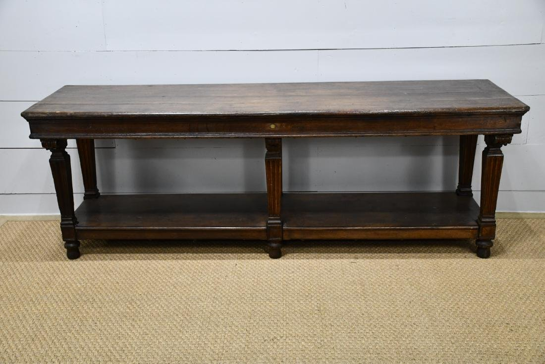 "Late 19th C. French Draipers Table 33""H,   94""L,   27""W"