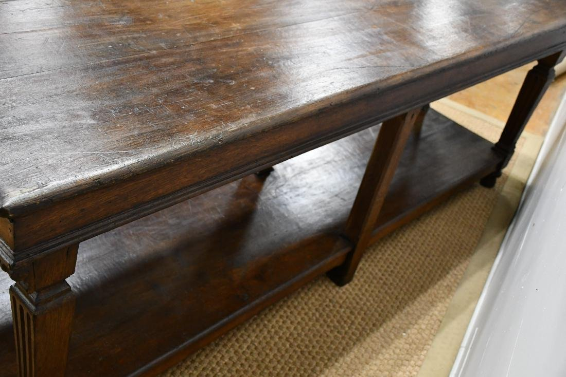"Late 19th C. French Draipers Table 33""H,   94""L,   27""W - 6"