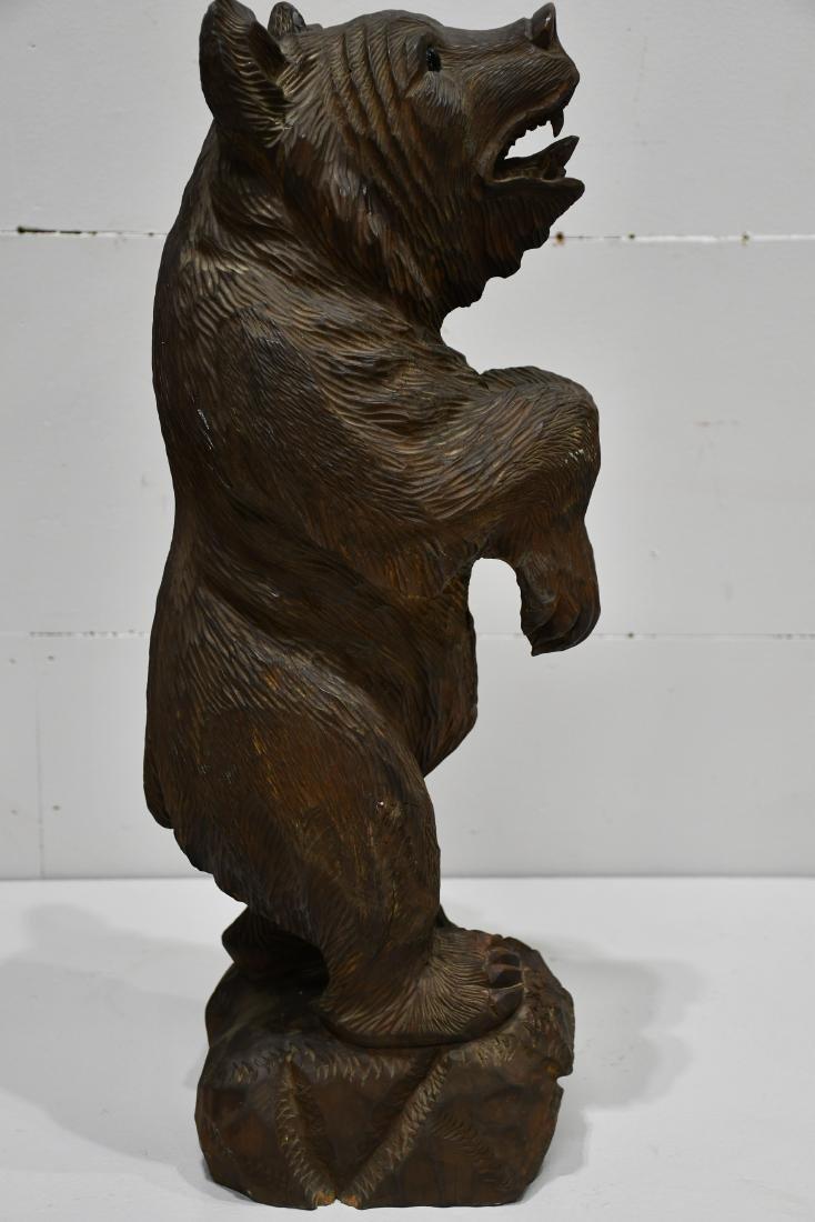 "Folk Art Black Forest Carved Bear 24 1/4""H,   8""  x   8 - 3"