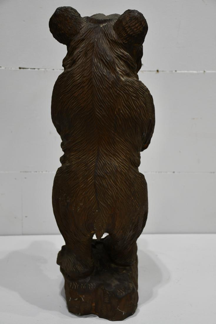 "Folk Art Black Forest Carved Bear 24 1/4""H,   8""  x   8 - 4"