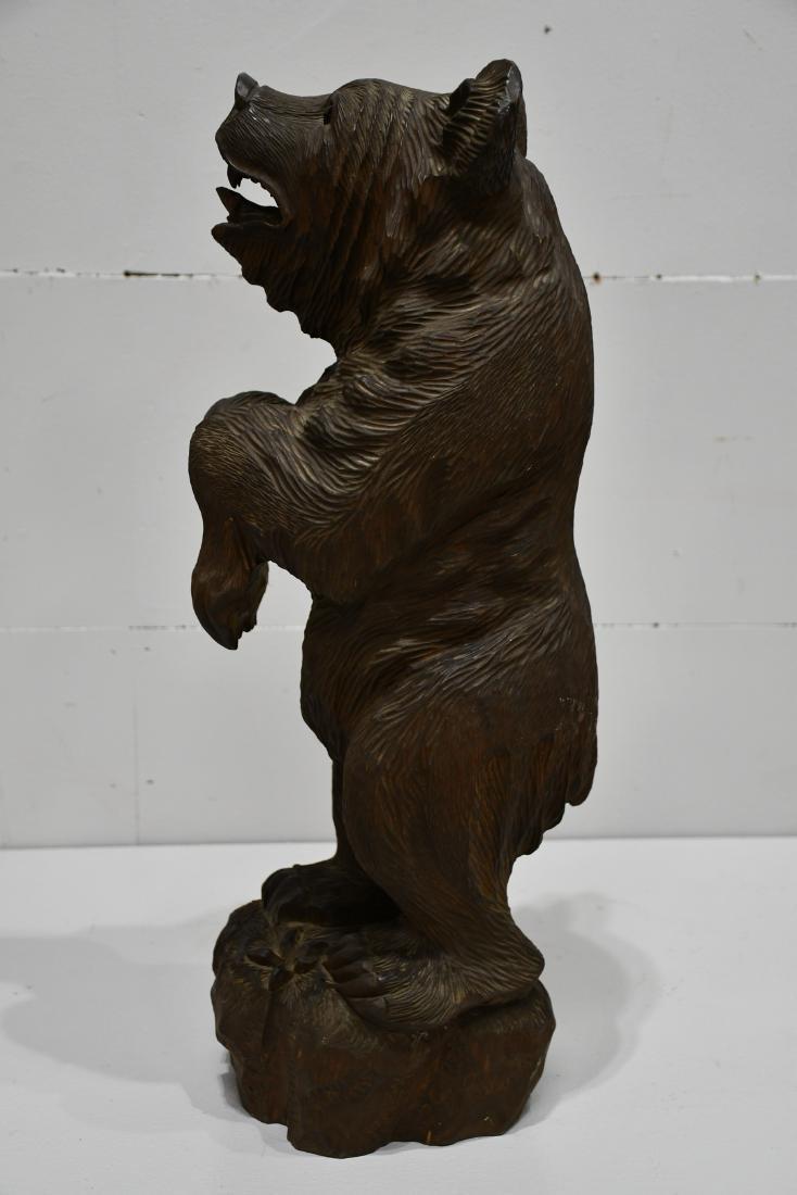 "Folk Art Black Forest Carved Bear 24 1/4""H,   8""  x   8 - 5"