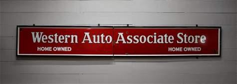 "Western Auto Associate Store Sign - porcelain 28"" x"