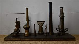 Collection of Early Fire Hose Nozzles
