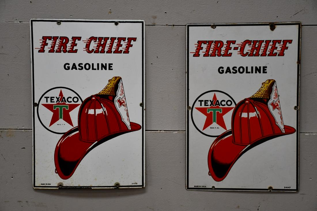 Texaco Fire - Chief Gasoline Pump Plate
