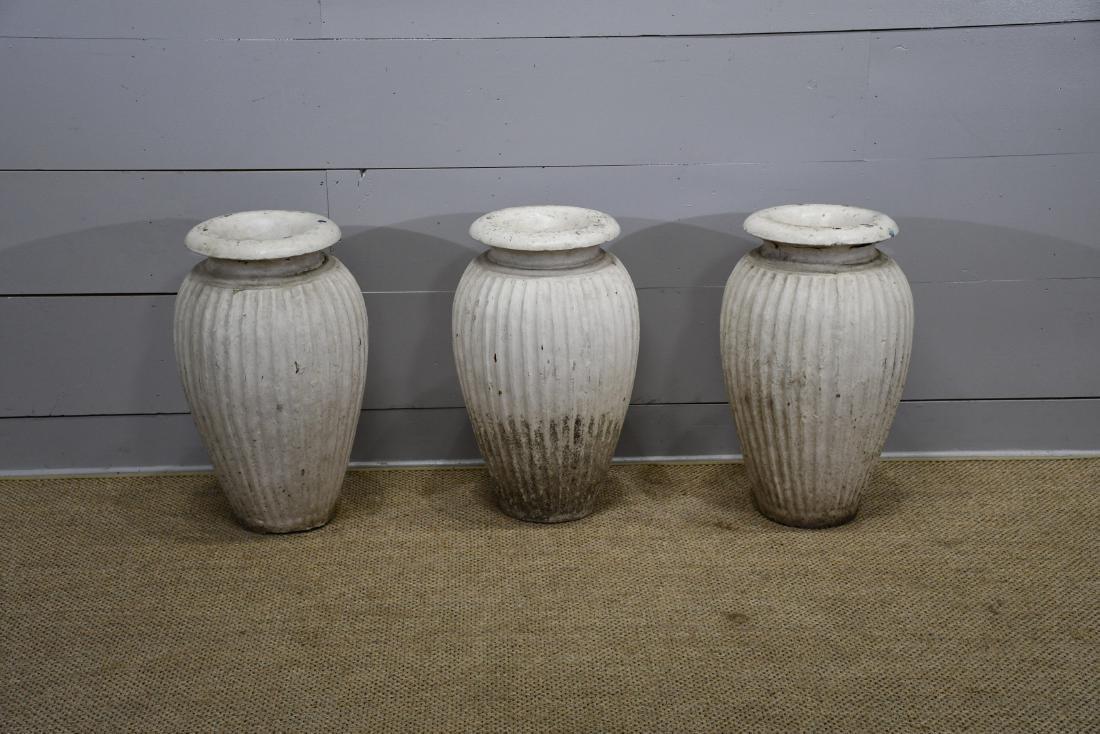 Painted Concrete Garden Vase