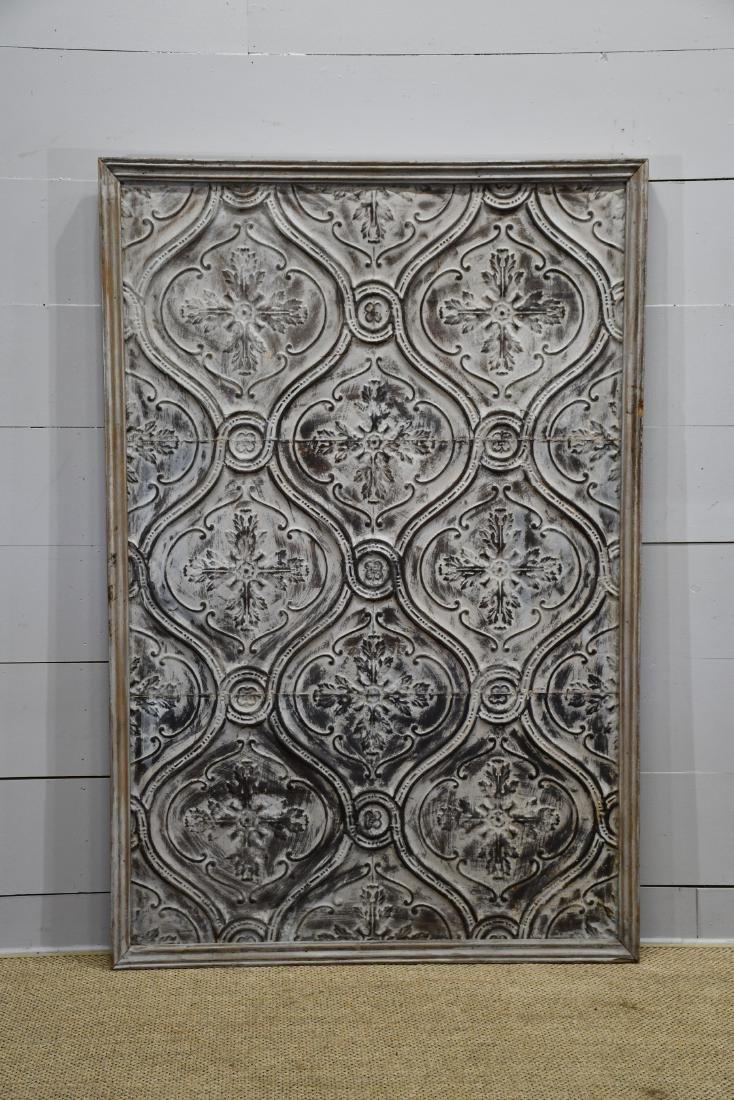 "Large Framed Ceiling Tin Panel 76""  x   51"""