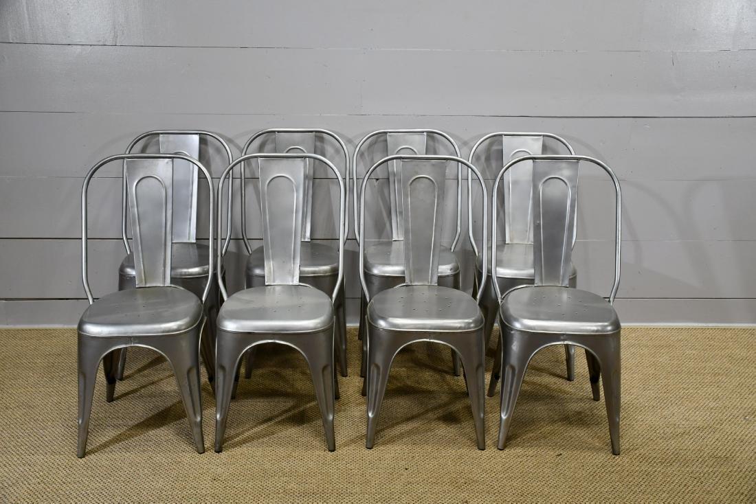 Silver Metal Bistro Chair
