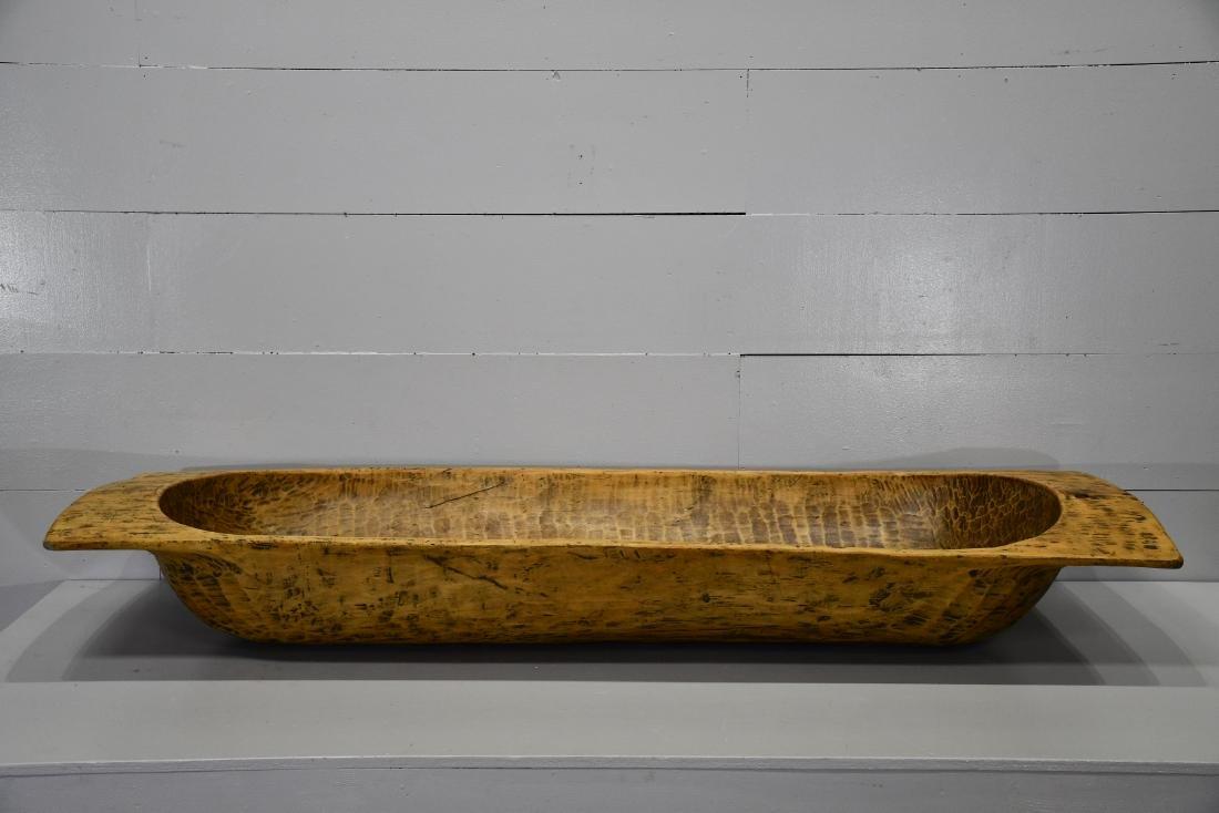 """Large Wooden Dough Bowl 11""""H,   76""""  x   27"""""""