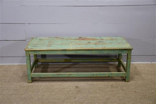 Painted Coffee Table 21 H 60 X 26