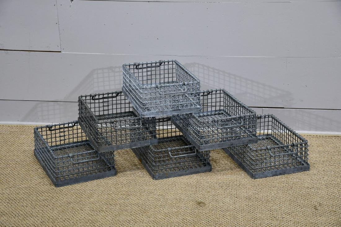 "Industrial Metal Wire Basket X-6    7""H,   12""  x   16"""