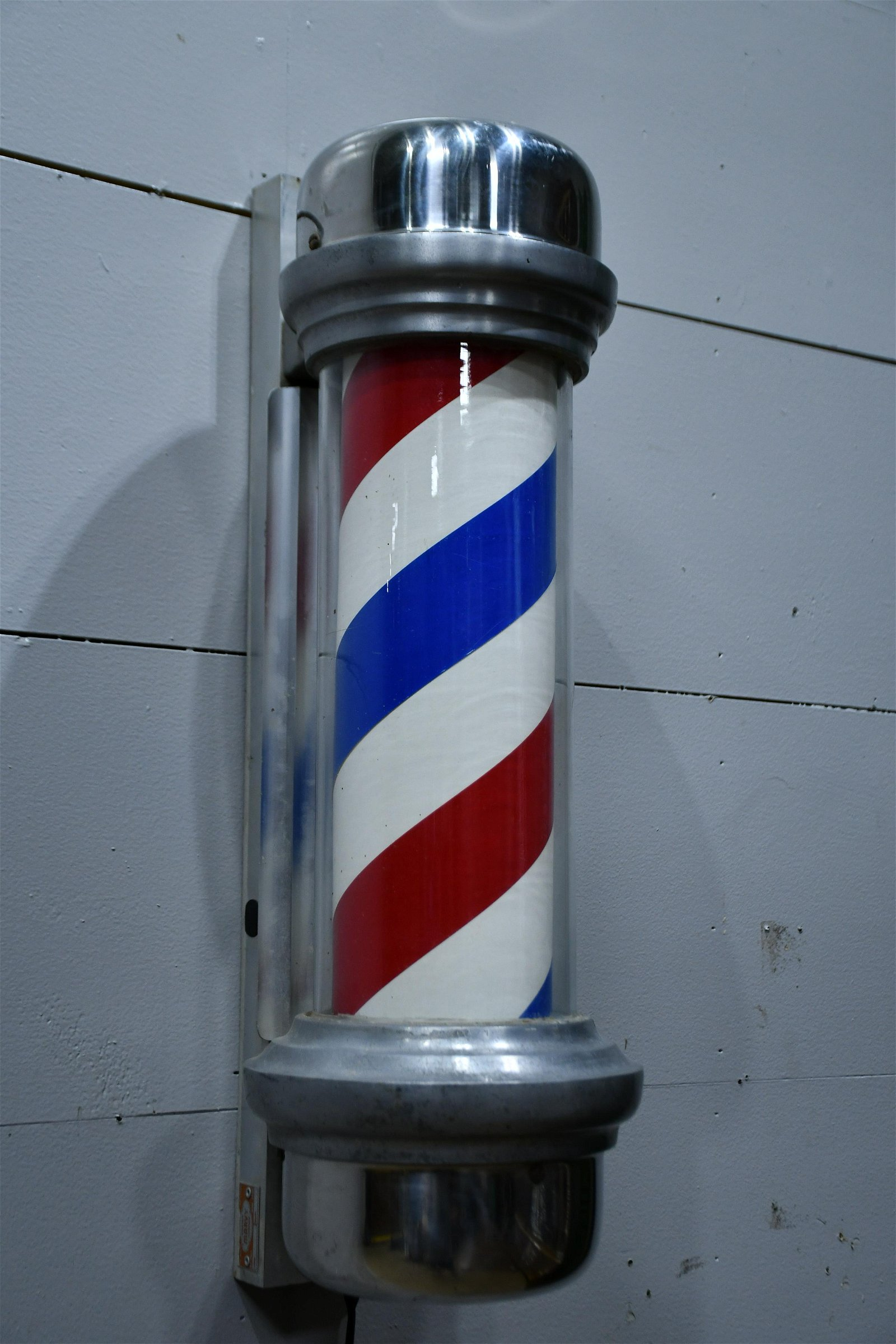 "Lighted Barber Pole 28""H,   10""  x   11"""