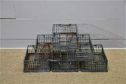 Industrial Metal Wire Basket X6     7H   12  x