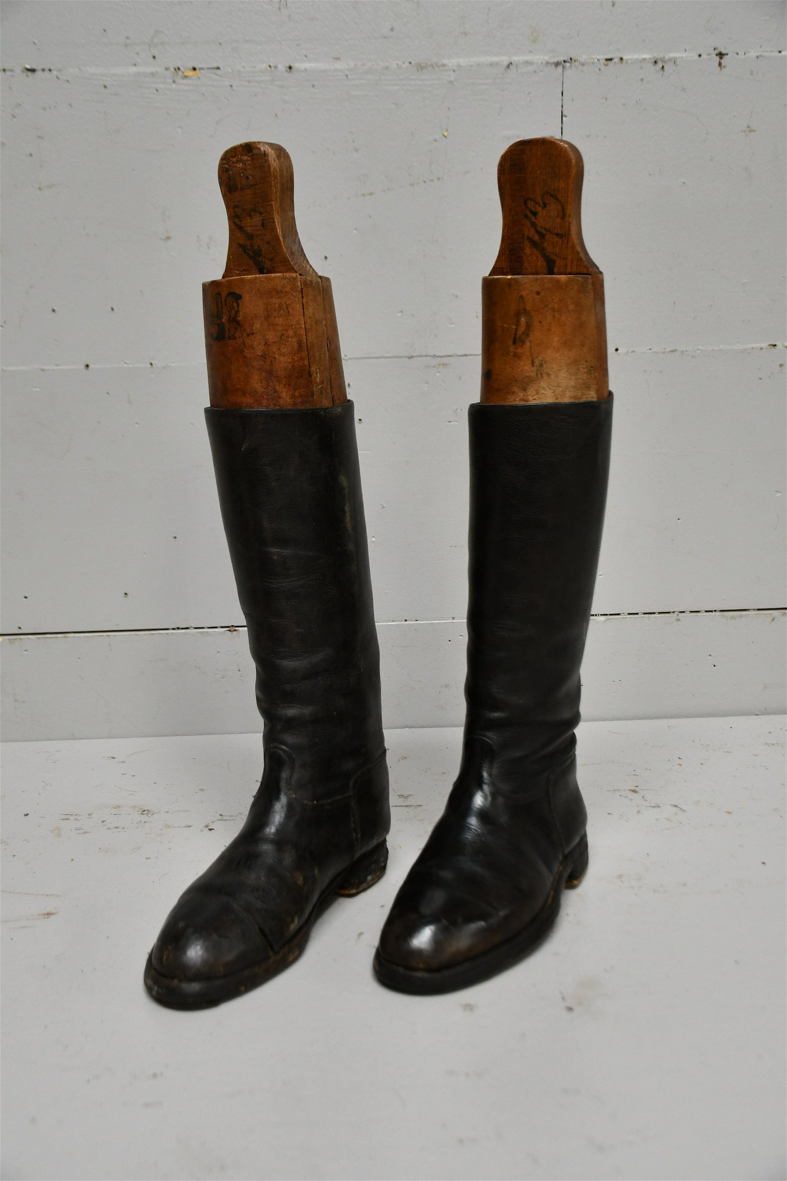Pair of English Leather Riding Boots