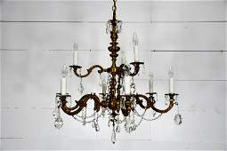 Late 19th C. French Louis XVI Style Chandelier 34