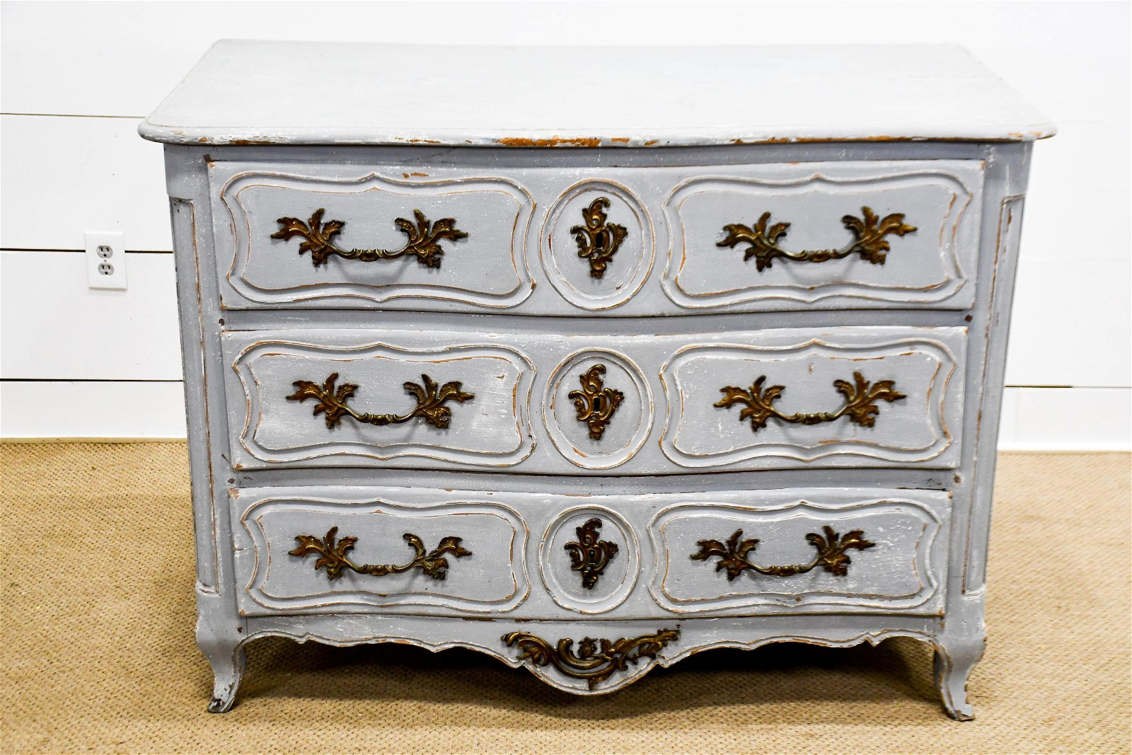"""Early 19th C. French Painted Chest 39""""H,   52""""  x   27"""""""