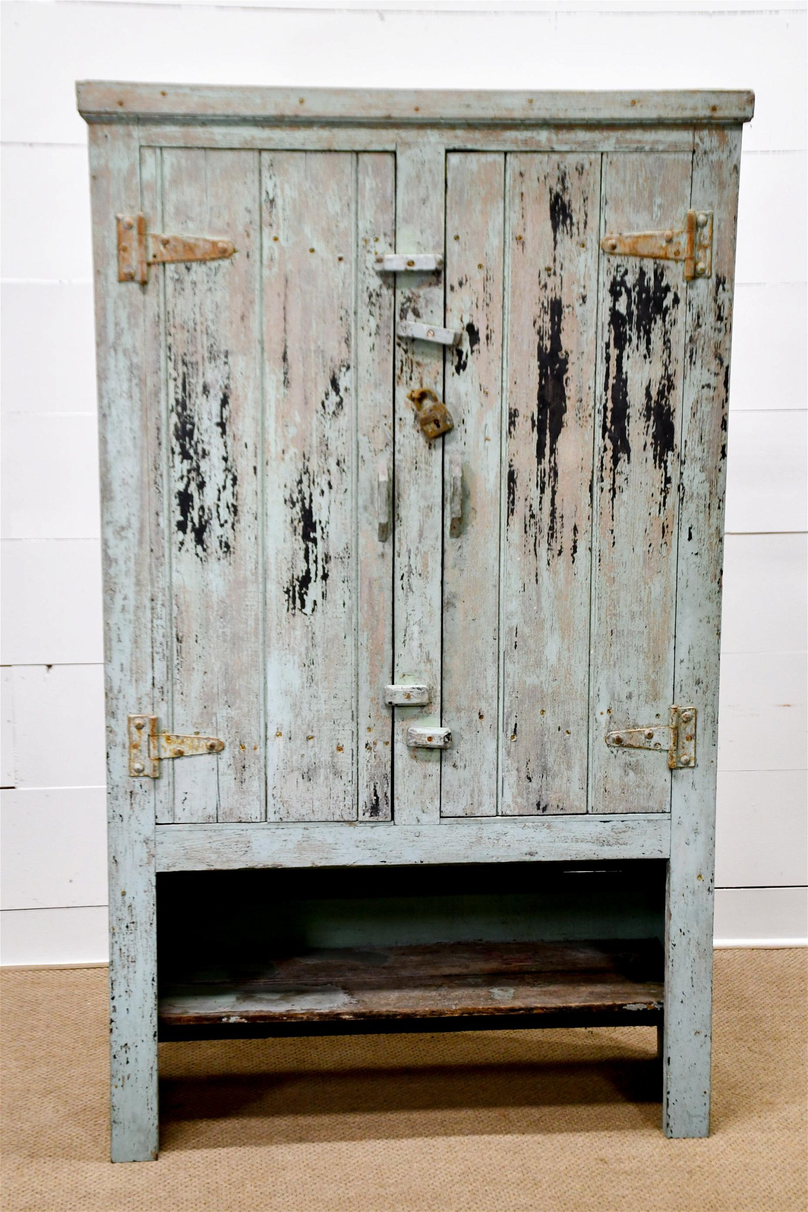 "French Painted 2 Door Farmhouse Cupboard 75 1/2""H,   45"