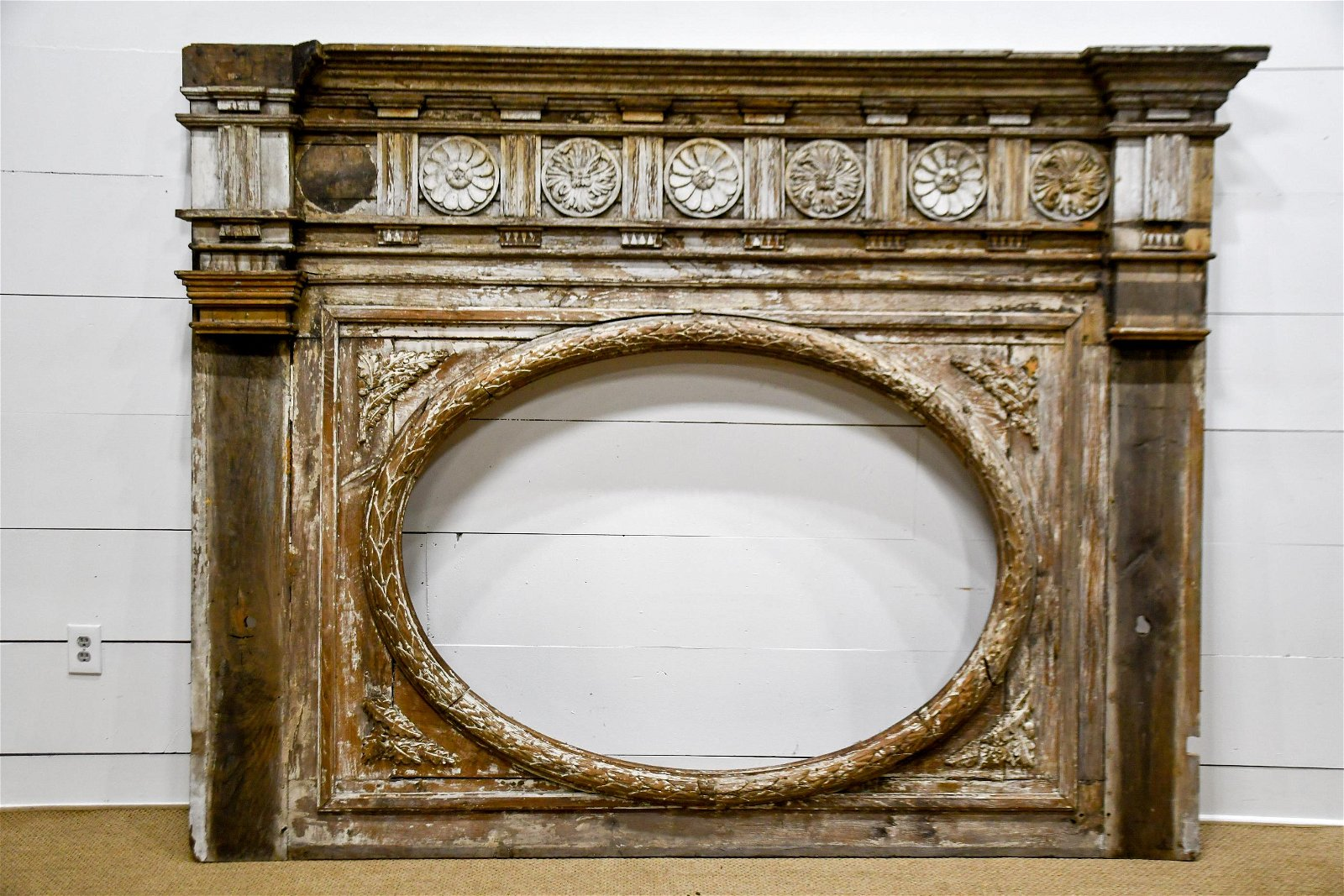 """Early 19th C. French Architectural Piece 75""""  x   98"""""""
