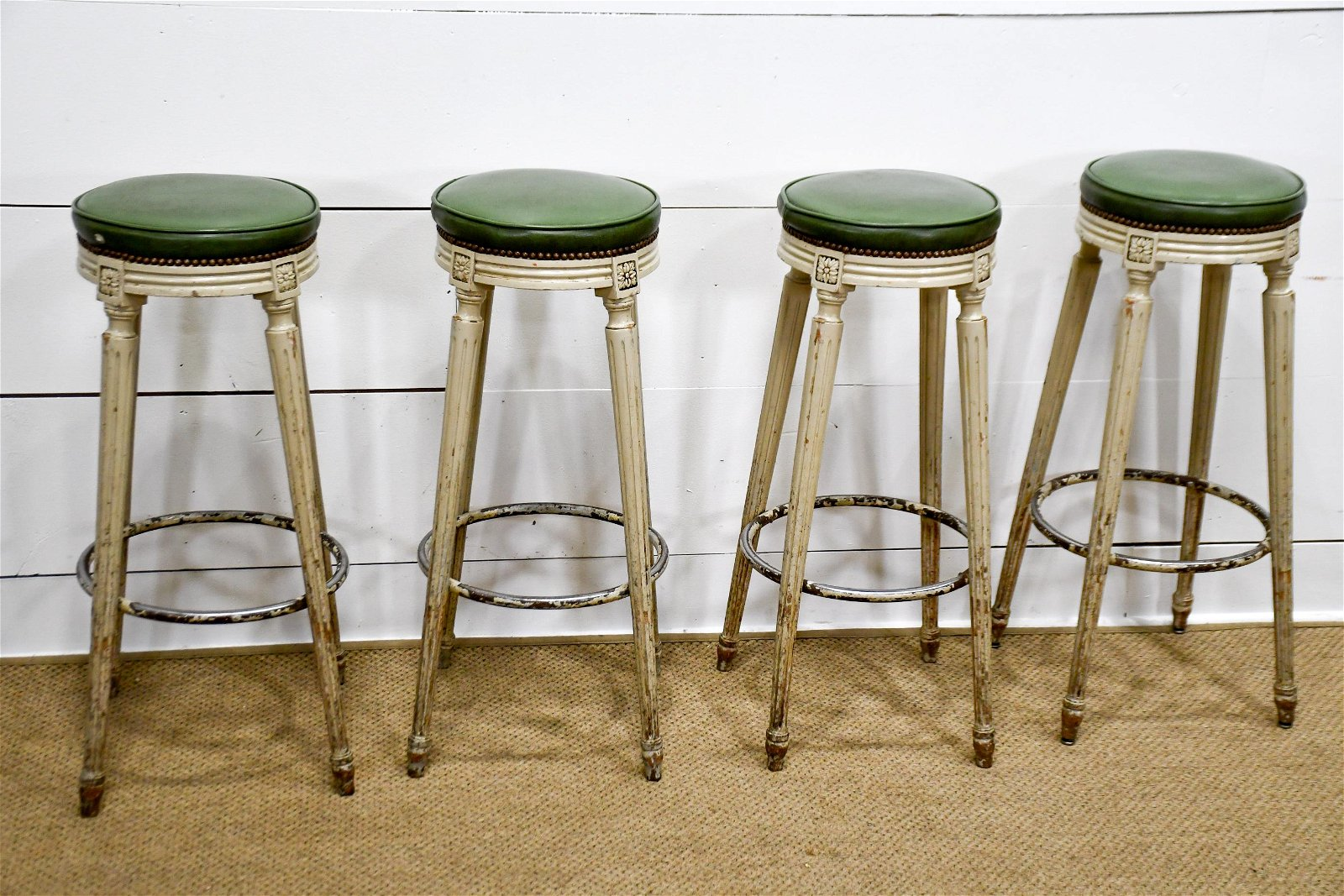 """4pc. Lot of French Bistro Stools 32""""H,   14 1/2""""  x"""