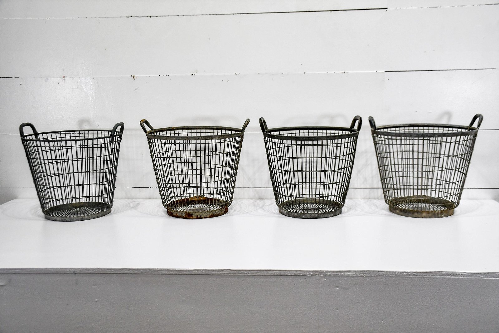 4pc. Lot of Metal Gathering Baskets biggest     -