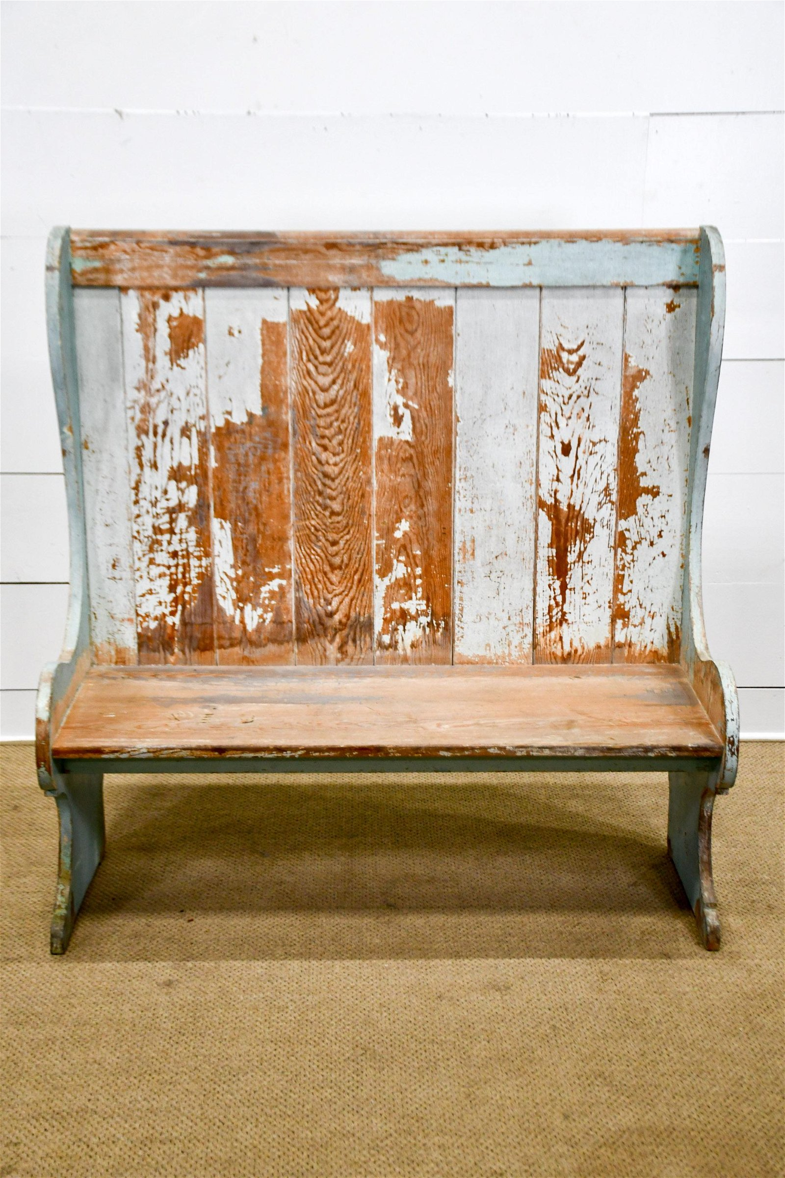 """Painted Cafe Bench 54 1/2""""H,   52""""  x   21 1/2"""""""