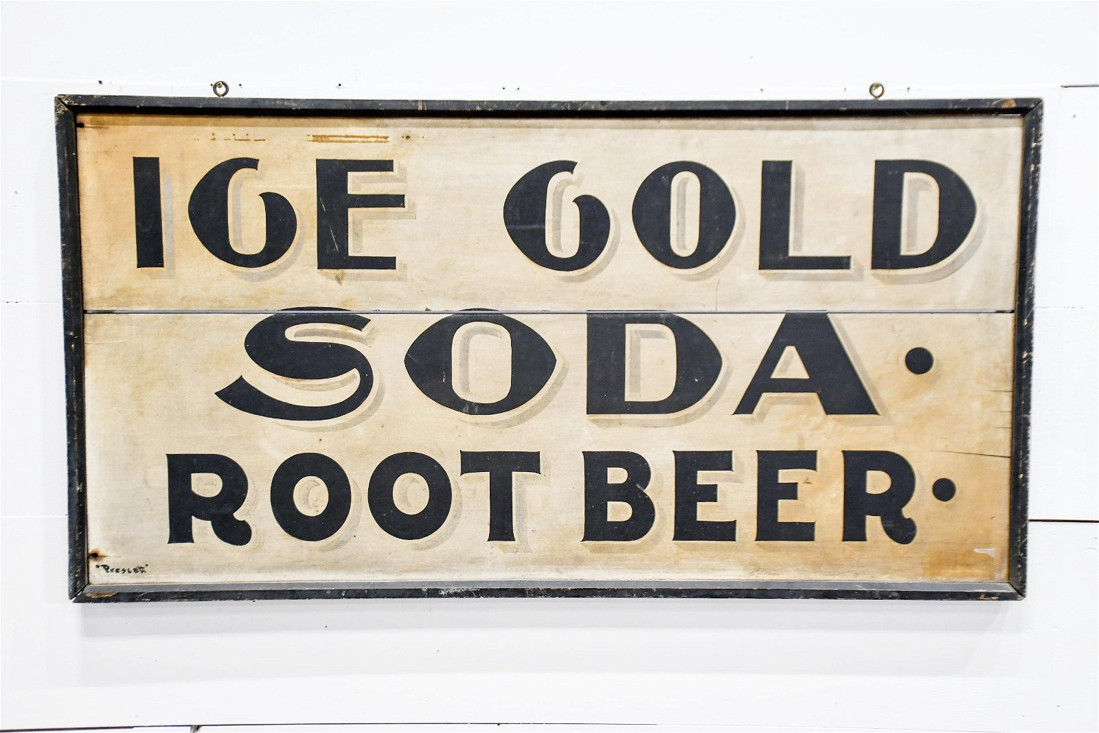 """Ice Cold Soda Sign    -    wood 26 1/2""""  x   50"""""""