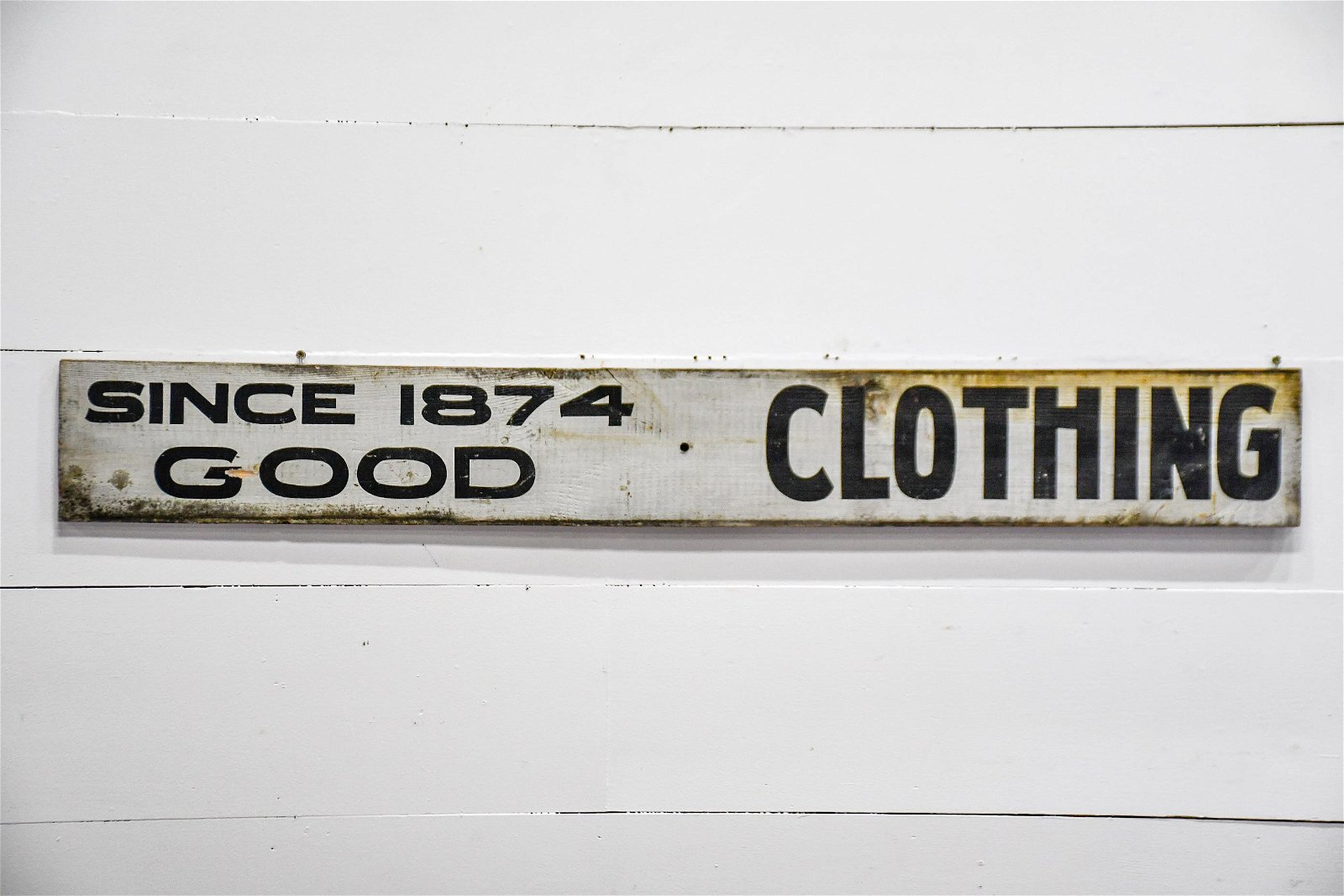 """Clothing Sign   -   wood / double sided 8""""  x   60"""""""