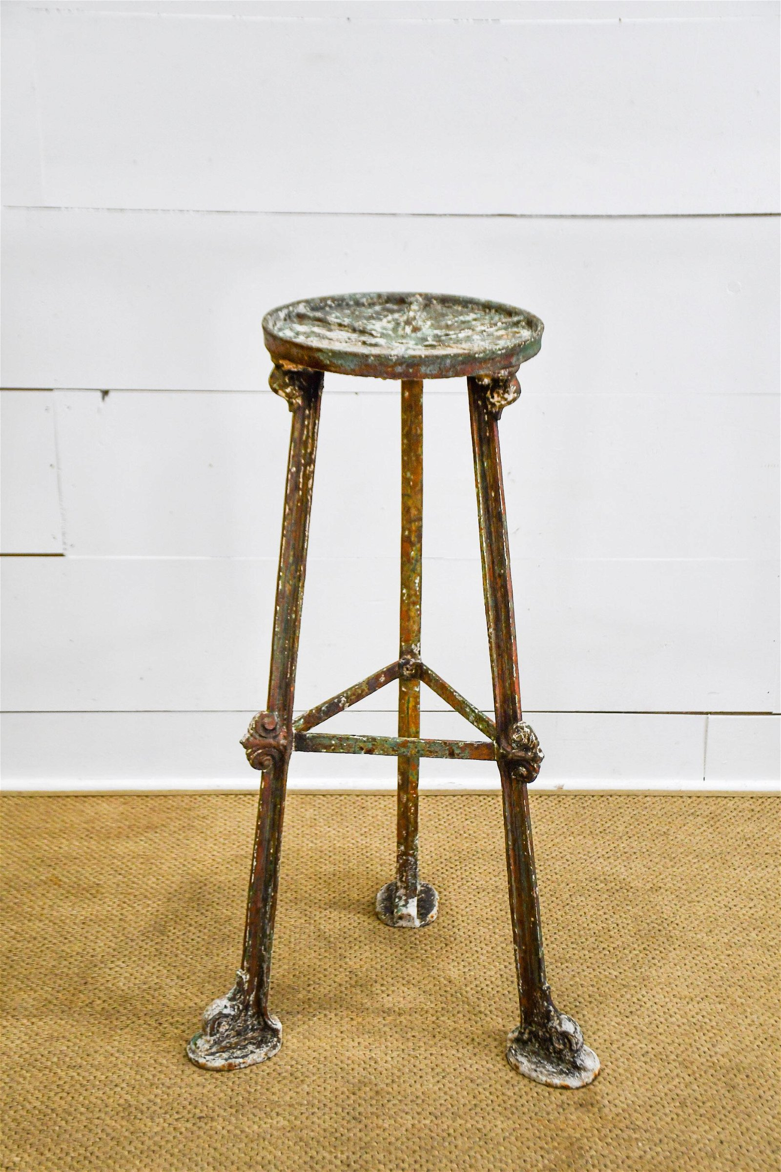 """French Industrial Potter's Stand 39 1/2""""H,   20""""  x"""