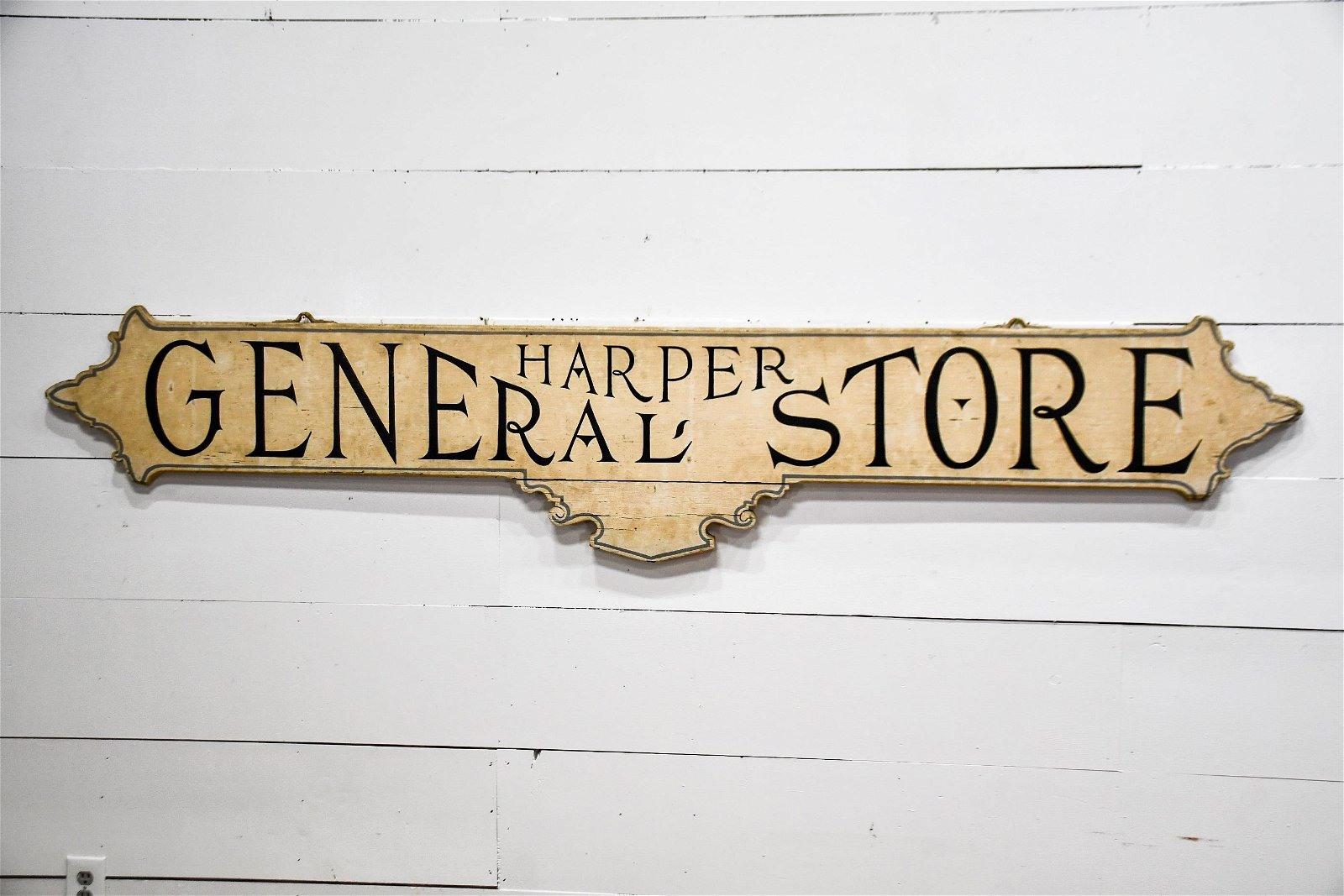 Harper's General Store Sign - wood / double sided