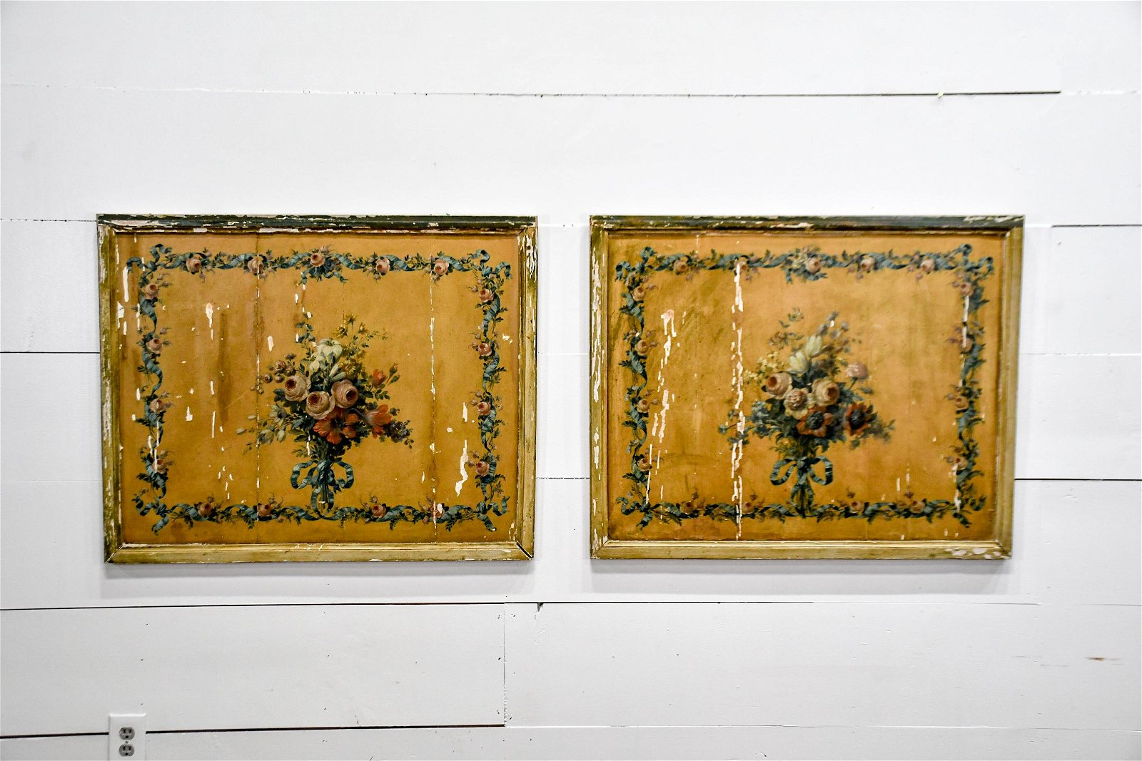 """Pair of 19th C. French Panels 30""""  x   38 1/2""""      ea."""