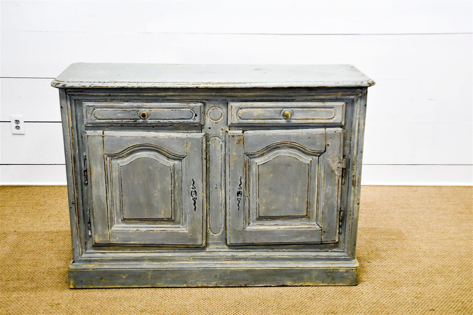 """19th C. French Painted Server 39""""H,    55""""  x   19"""""""