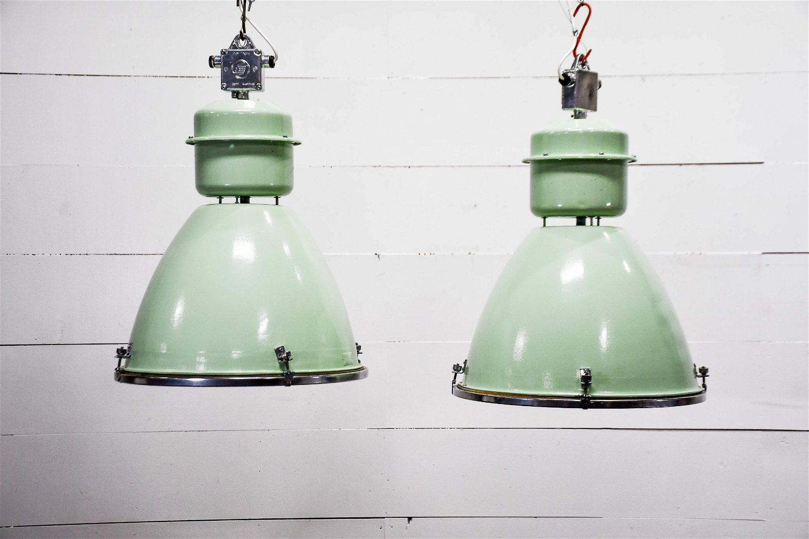 Green Industrial Hanging Light X-2