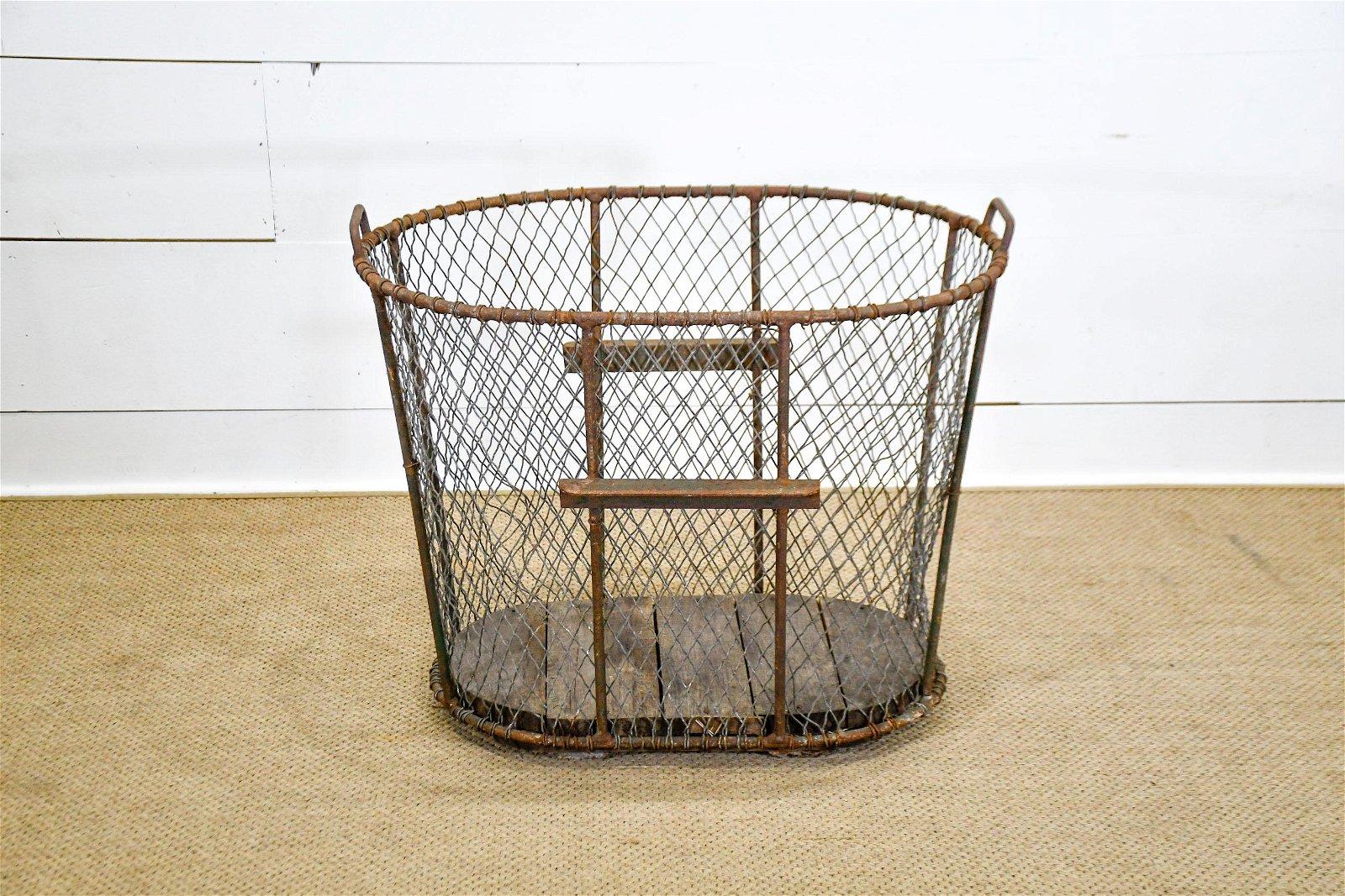 """Industrial Metal Basket 28""""H,   33""""  x   25 1/2"""""""