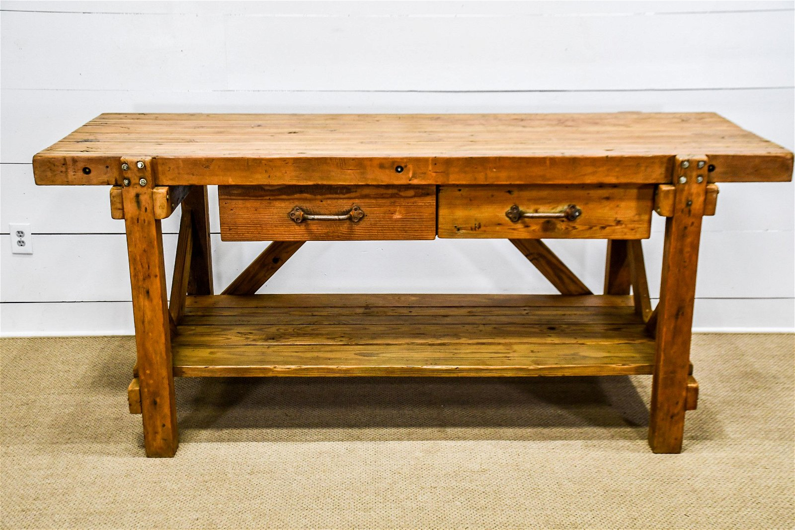 """Industrial Work Table 38""""H,   87 1/2""""  x   34"""""""
