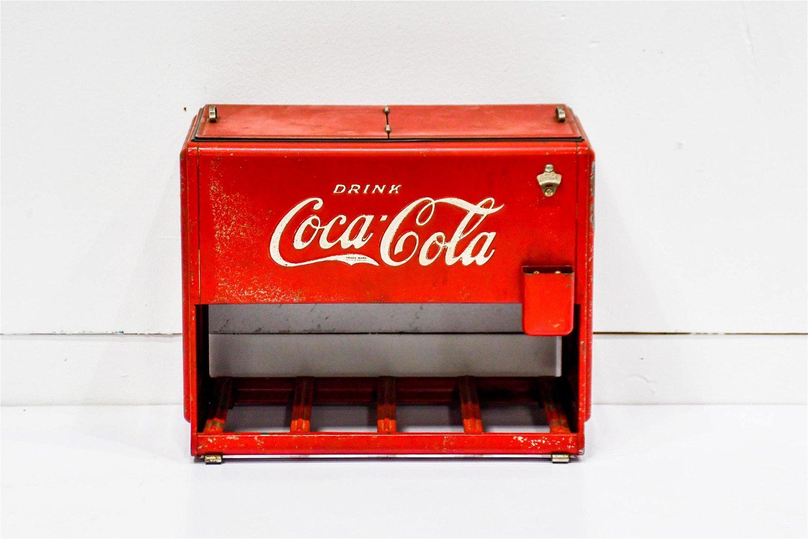 "Coca - Cola Salesman Sample of Drink Cooler 10 1/2""H,"