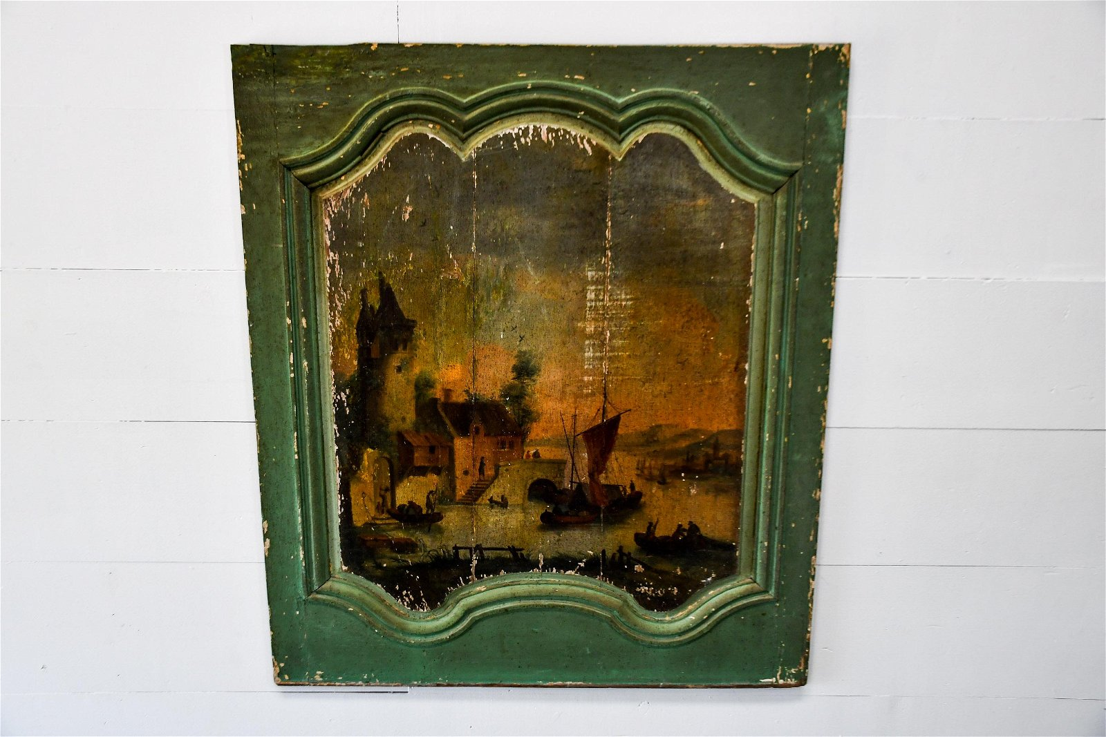 """18th C. French Painted Panel 49""""  x   42"""""""