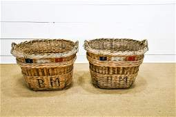 French Champagne Grape Gathering Basket X-2