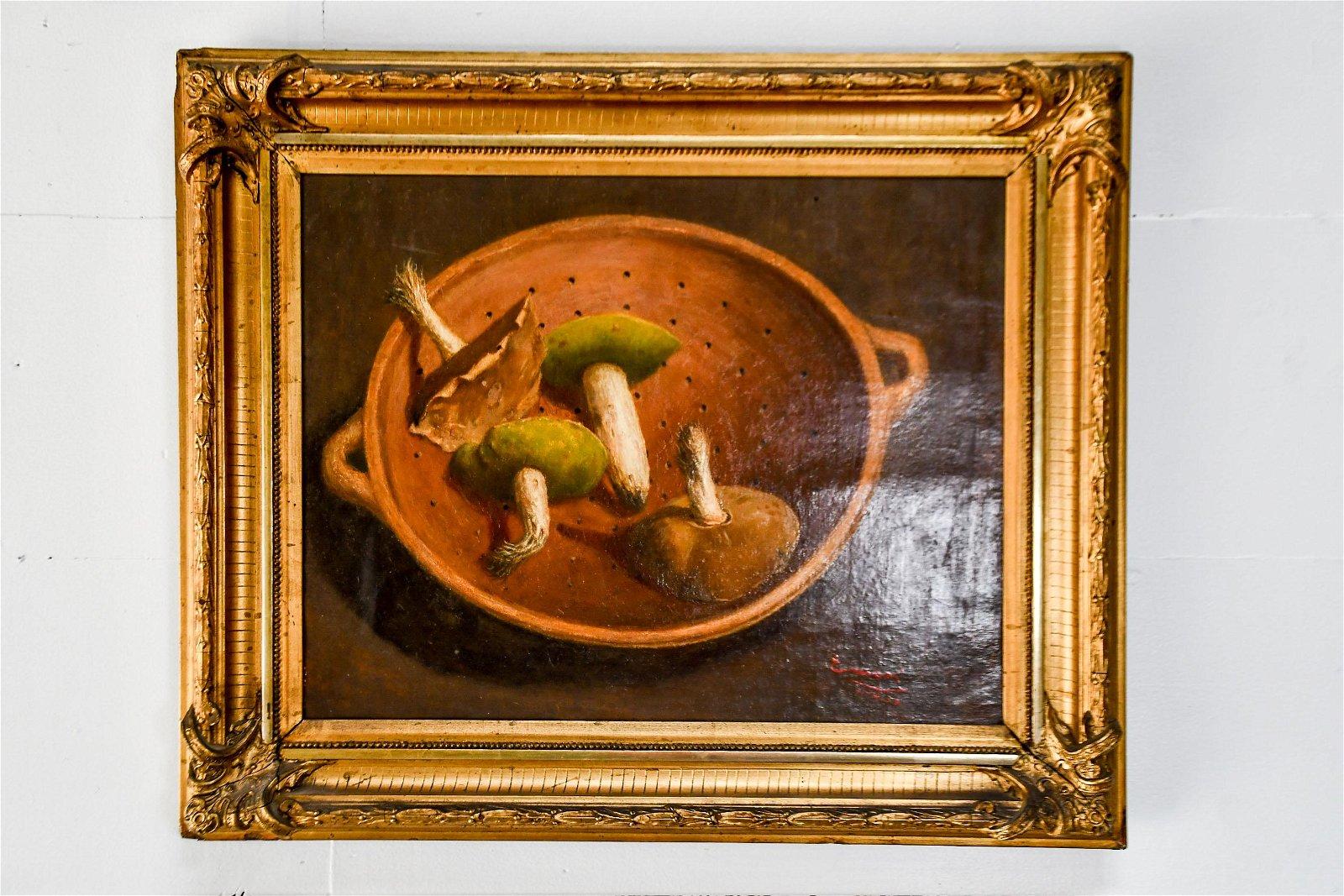 """Oil on Canvas Painting -  Mushrooms 25""""  x   30"""""""