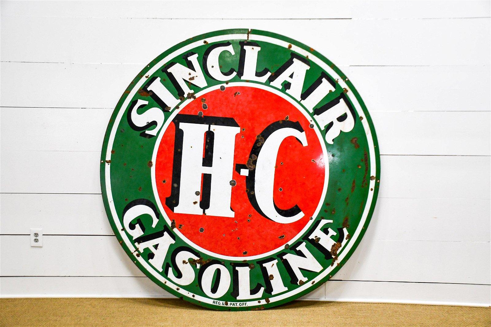 """DSP  Sinclair Gasoline Sign 72"""" diam."""