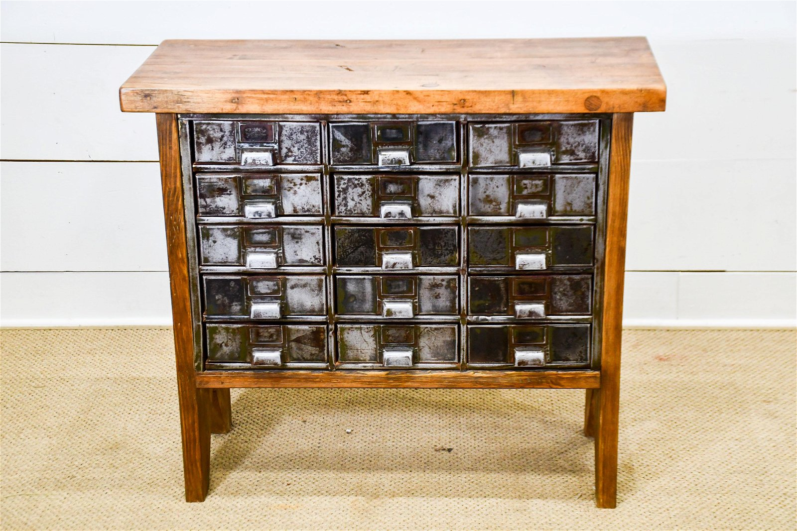 """Industrial Wood and Metal Drawer Unit 34""""H,   38""""  x"""
