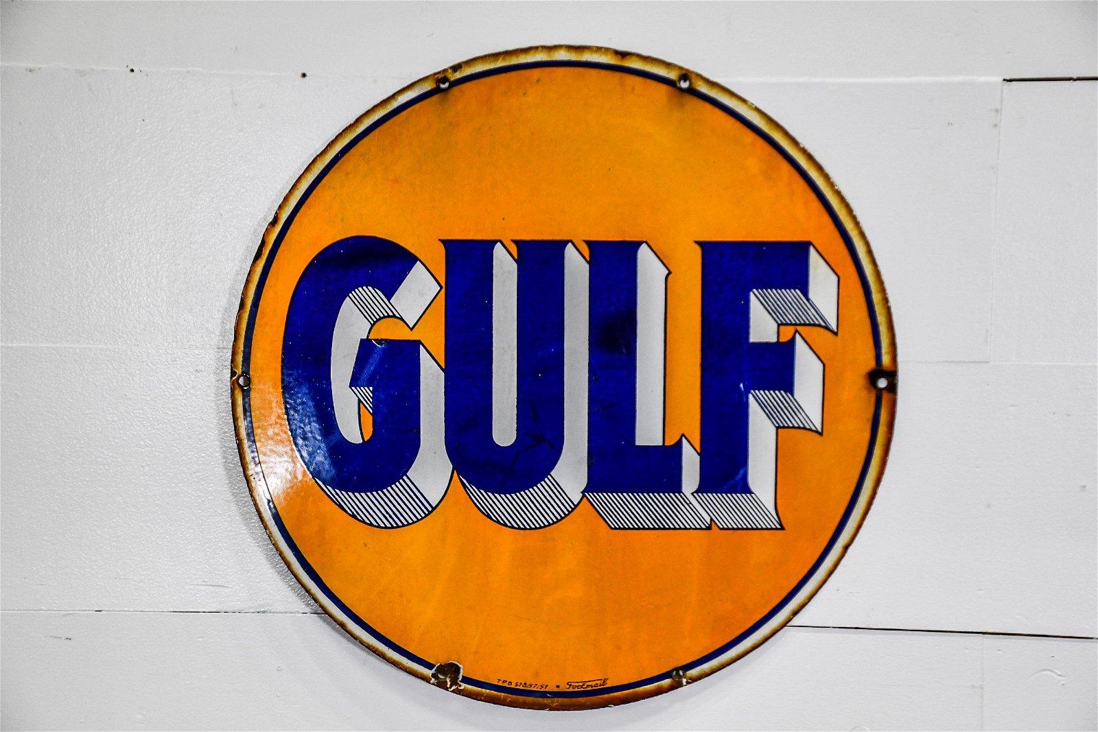 "French Gulf Sign 27 1/2"" diam."