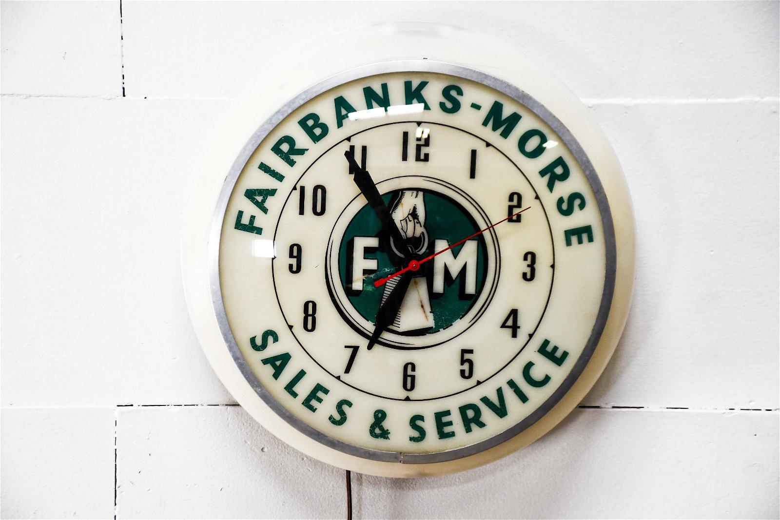Fairbanks - Morse Advertising Clock - plastic