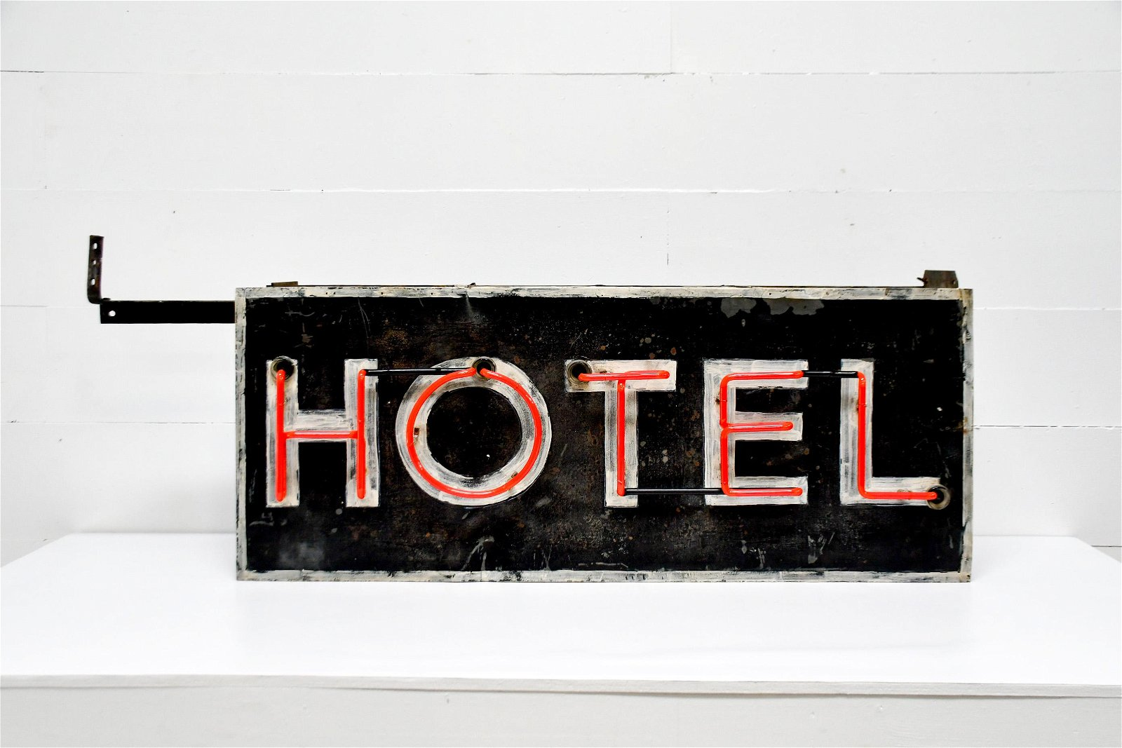 """""""Hotel""""  Neon Can Sign   -   works 24""""H (28 1/2""""H"""