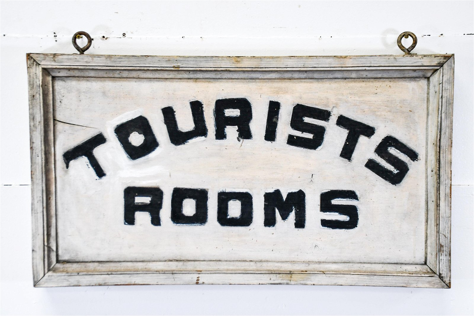 """Tourists Room Sign  -  wood / double sided 17""""  x   31"""""""
