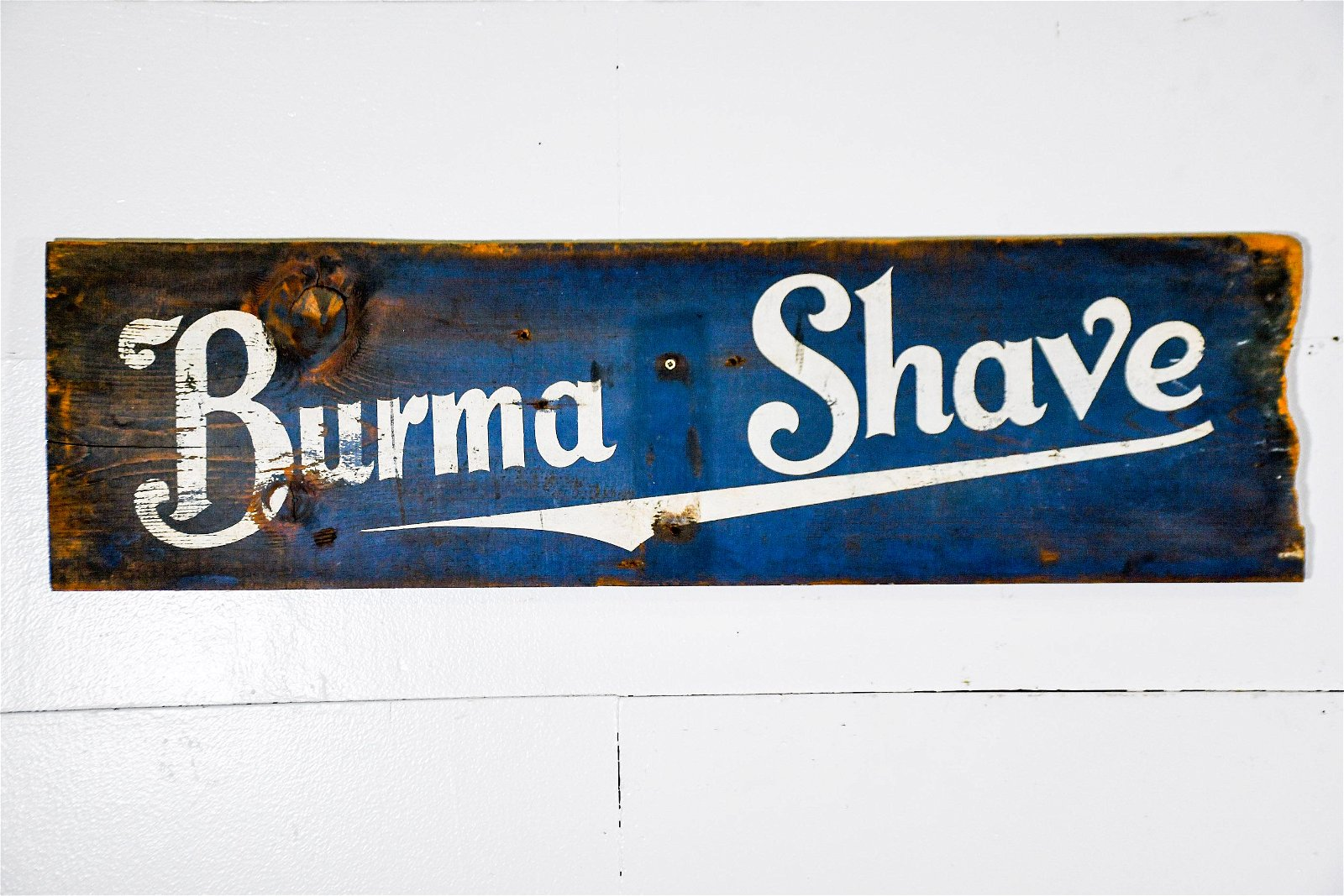 """Burma Shave Sign   -   wood / double sided 11""""  x   40"""""""