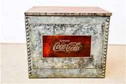 Metal Storage Bin Advertising Coca  Cola 20H   24
